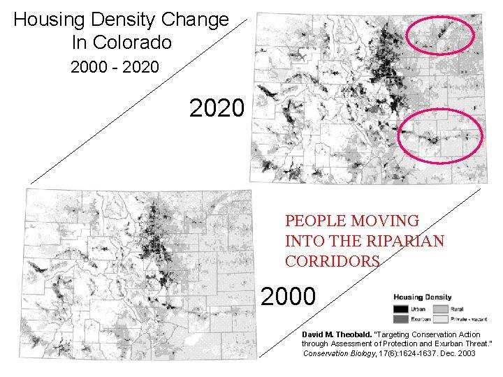 Housing Density Change In Colorado Housing Density Change 1960 - 2050 (C. U. Center