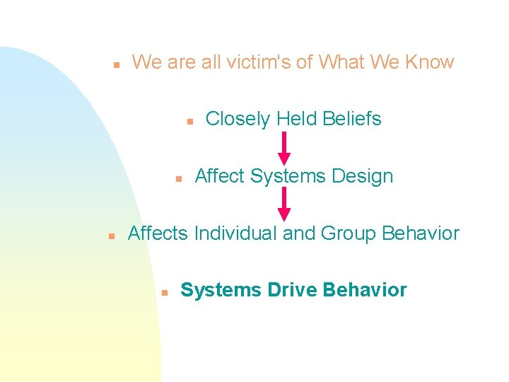n We are all victim's of What We Know n n n Closely Held