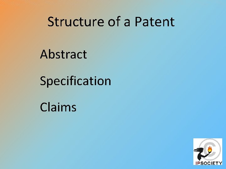 Structure of a Patent Abstract Specification Claims