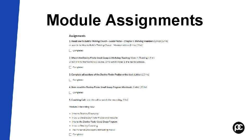Module Assignments