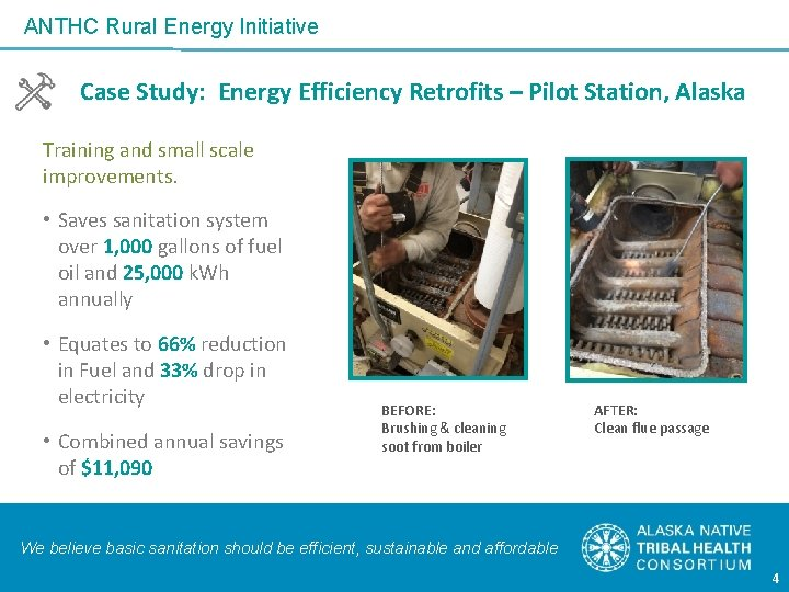 ANTHC Rural Energy Initiative Case Study: Energy Efficiency Retrofits – Pilot Station, Alaska Training