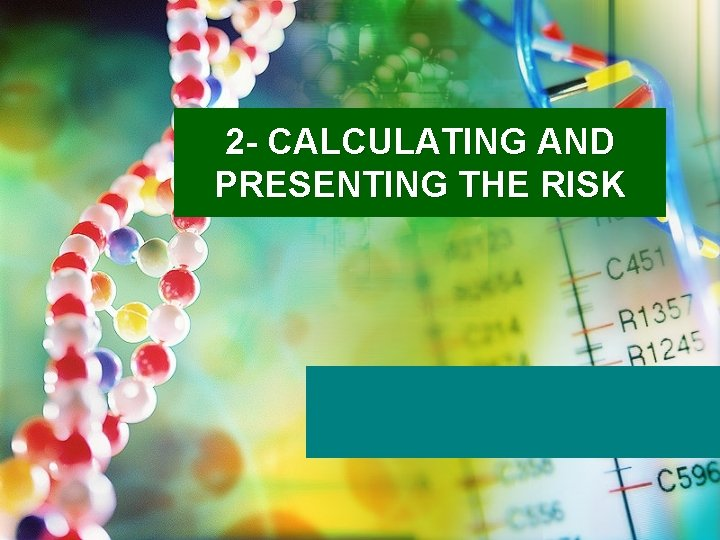 2 - CALCULATING AND PRESENTING THE RISK