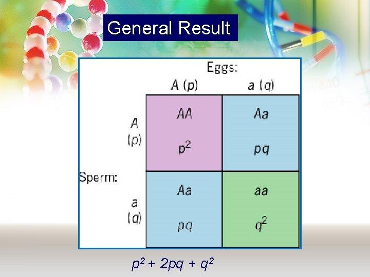 General Result p 2 + 2 pq + q 2