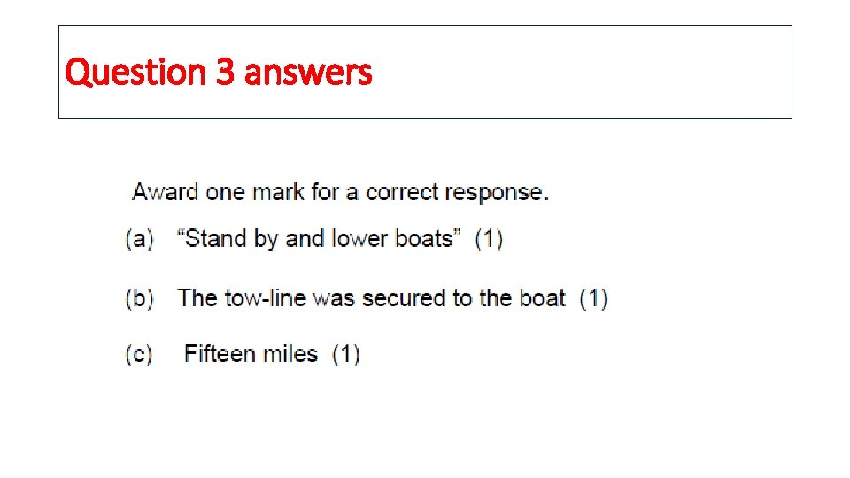 Question 3 answers