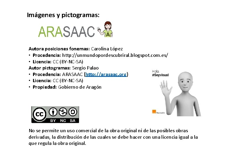 Imágenes y pictogramas: Autora posiciones fonemas: Carolina López • Procedencia: http: //unmundopordescubriral. blogspot. com.