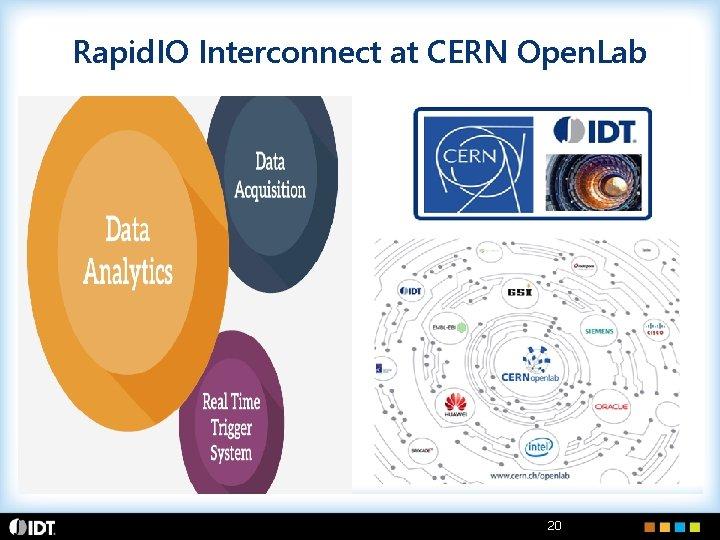 Rapid. IO Interconnect at CERN Open. Lab 20