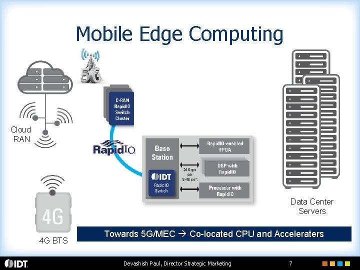 Mobile Edge Computing PPC GPU Cloud RAN Data Center Servers 4 G BTS Towards
