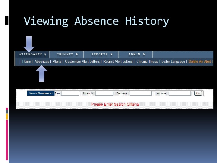 Viewing Absence History