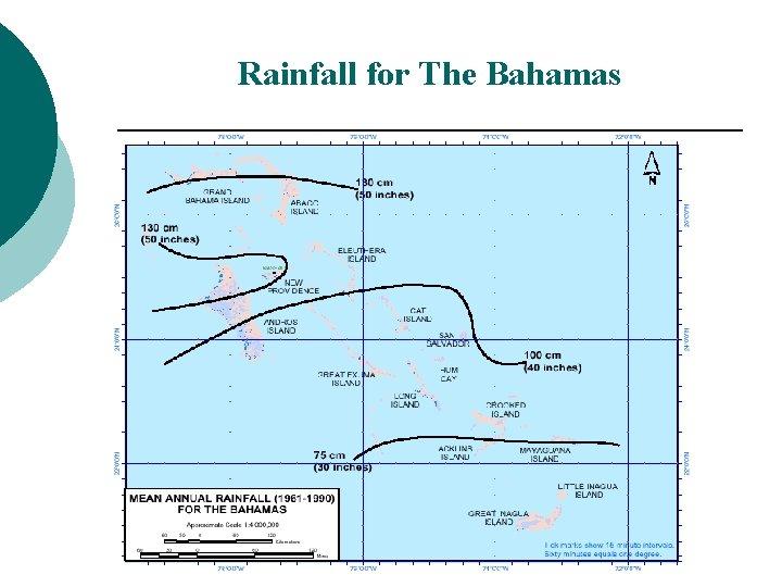 Rainfall for The Bahamas