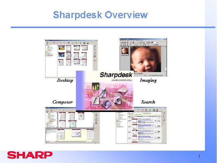 Sharpdesk Overview Desktop Composer Imaging Search 1
