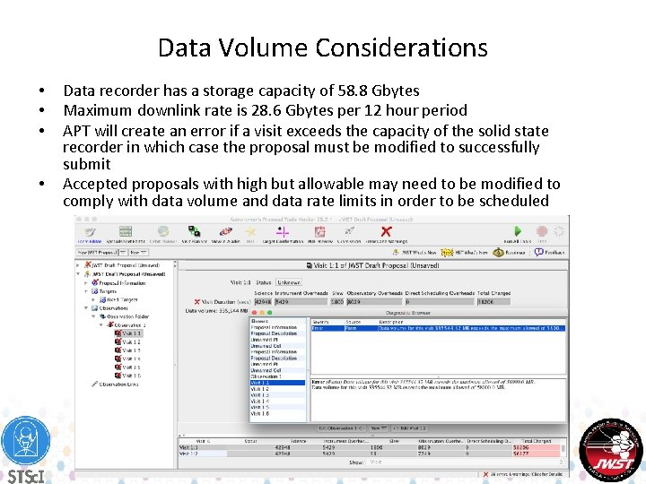 Data Volume Considerations • • Data recorder has a storage capacity of 58. 8