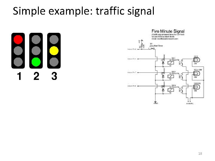 Simple example: traffic signal 18
