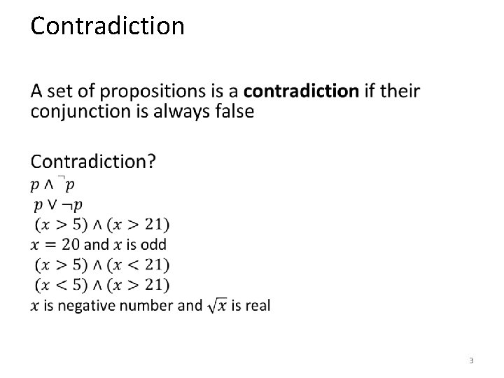 Contradiction • 3