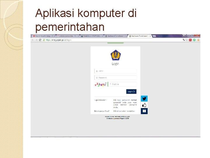 Aplikasi komputer di pemerintahan