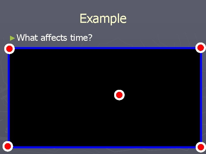 Example ► What affects time?