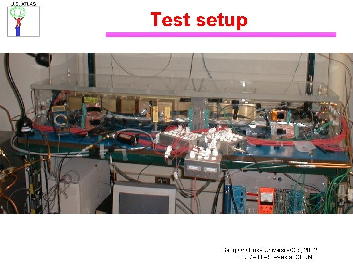 Test setup Seog Oh/ Duke University/Oct, 2002 TRT/ ATLAS week at CERN