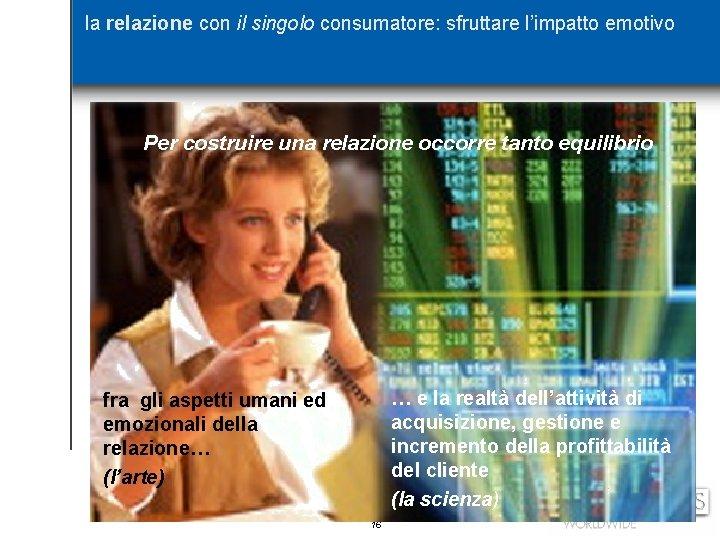 la relazione con il singolo consumatore: sfruttare l'impatto emotivo Per costruire una relazione occorre