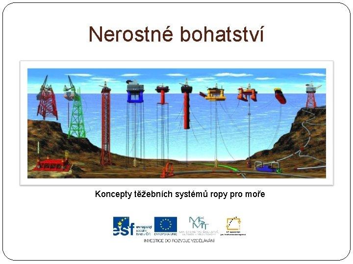 Nerostné bohatství Koncepty těžebních systémů ropy pro moře