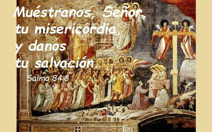 Muéstranos, Señor, tu misericordia, y danos tu salvación. Salmo 84, 8