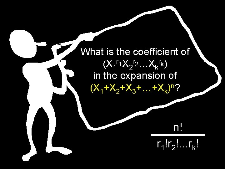 What is the coefficient of (X 1 r 1 X 2 r 2…Xkrk) in
