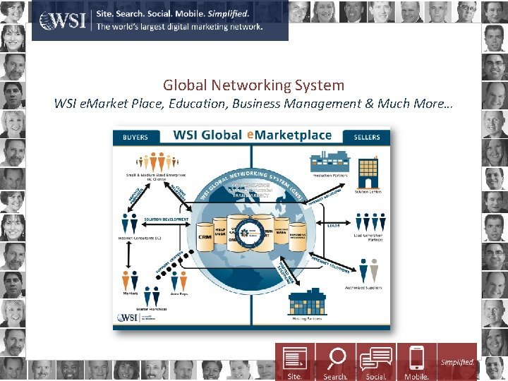 Global Networking System WSI e. Market Place, Education, Business Management & Much More…