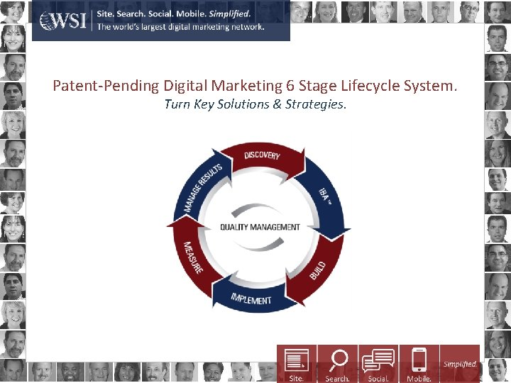 Patent-Pending Digital Marketing 6 Stage Lifecycle System. Turn Key Solutions & Strategies.
