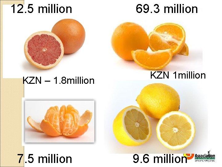 12. 5 million KZN – 1. 8 million 7. 5 million 69. 3 million