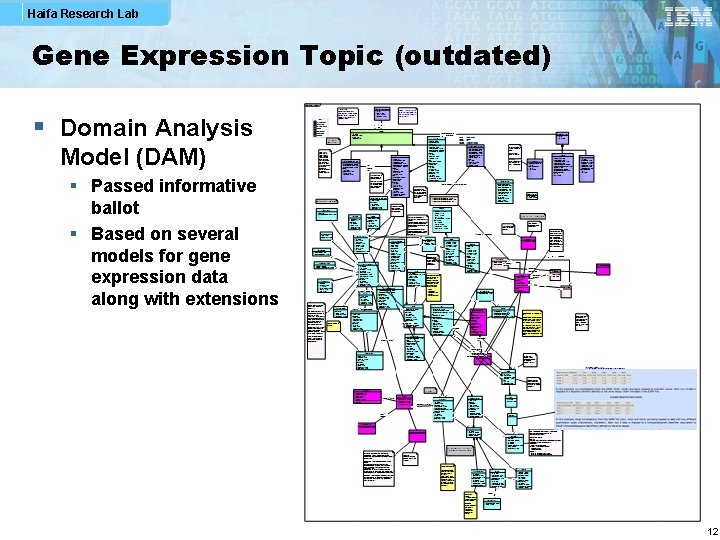 Haifa Research Lab Gene Expression Topic (outdated) § Domain Analysis Model (DAM) § Passed
