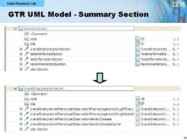 Haifa Research Lab GTR UML Model - Summary Section 36