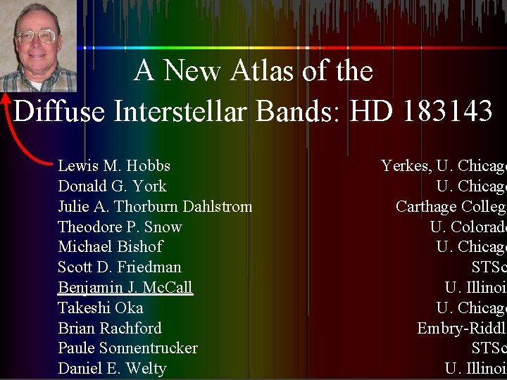 A New Atlas of the Diffuse Interstellar Bands: HD 183143 Lewis M. Hobbs Donald