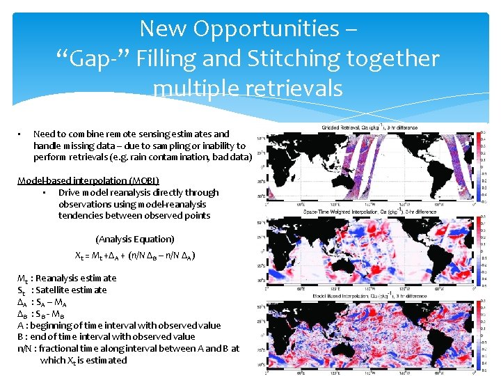 """New Opportunities – """"Gap-"""" Filling and Stitching together multiple retrievals • Need to combine"""