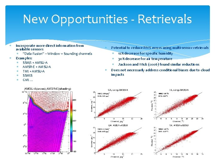 """New Opportunities - Retrievals Incorporate more direct information from available sensors """"Data Fusion"""" –"""