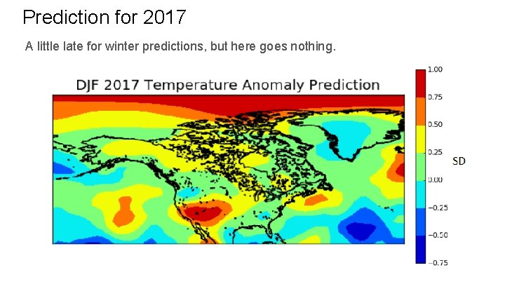 Prediction for 2017 A little late for winter predictions, but here goes nothing.