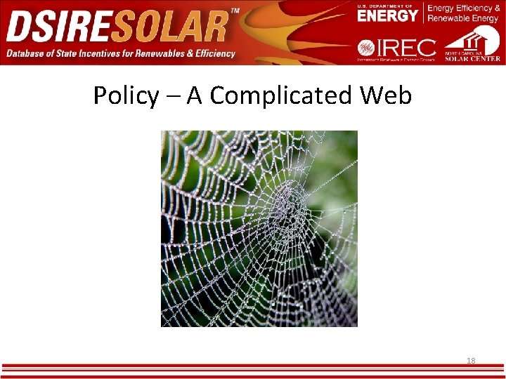 Policy – A Complicated Web 18
