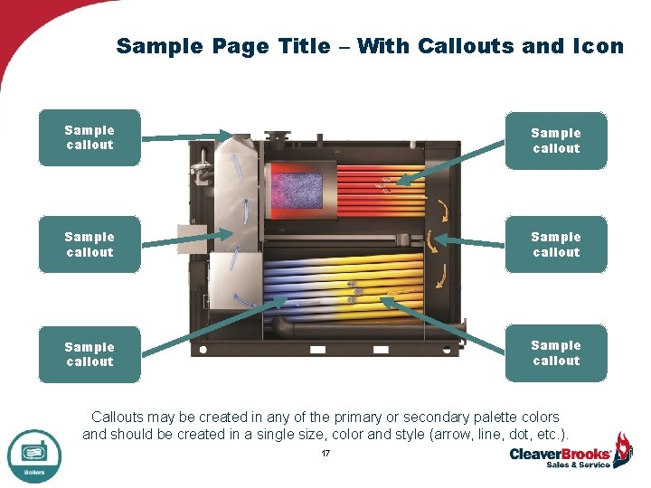 Sample Page Title – With Callouts and Icon Sample callout Sample callout Callouts may