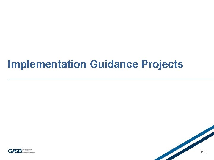 Implementation Guidance Projects 117
