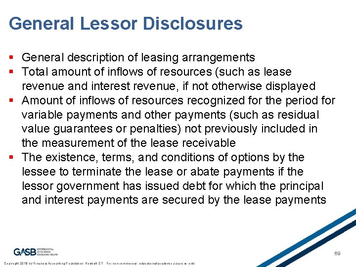 General Lessor Disclosures § General description of leasing arrangements § Total amount of inflows
