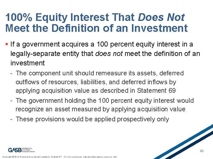 100% Equity Interest That Does Not Meet the Definition of an Investment § If