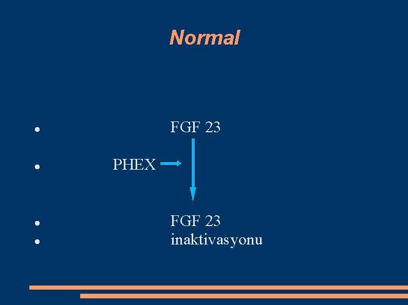 Normal FGF 23 PHEX FGF 23 inaktivasyonu
