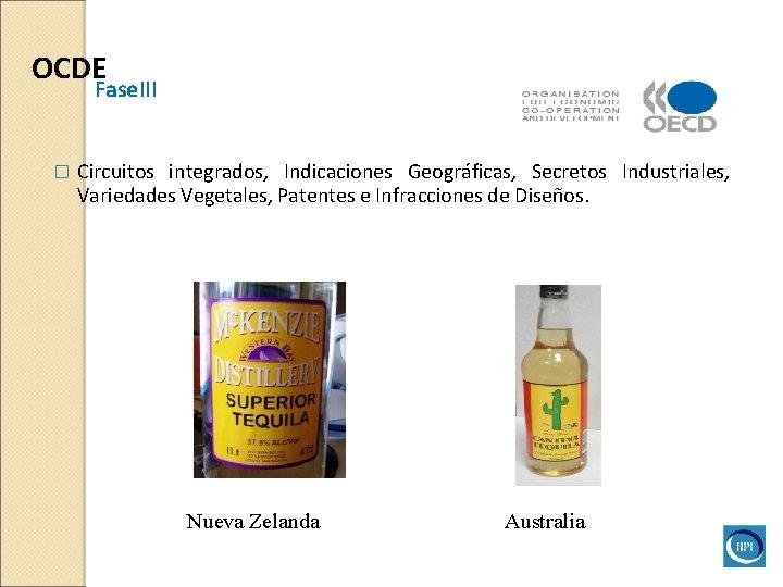 OCDE Fase. III � Circuitos integrados, Indicaciones Geográficas, Secretos Industriales, Variedades Vegetales, Patentes e