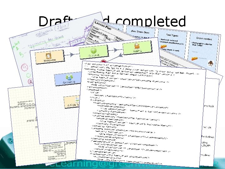 Drafts and completed plans