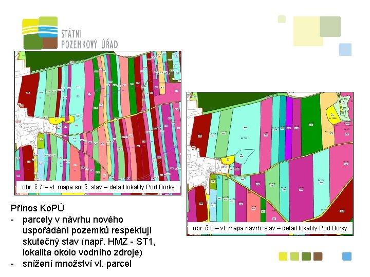 obr. č. 7 – vl. mapa souč. stav – detail lokality Pod Borky Přínos