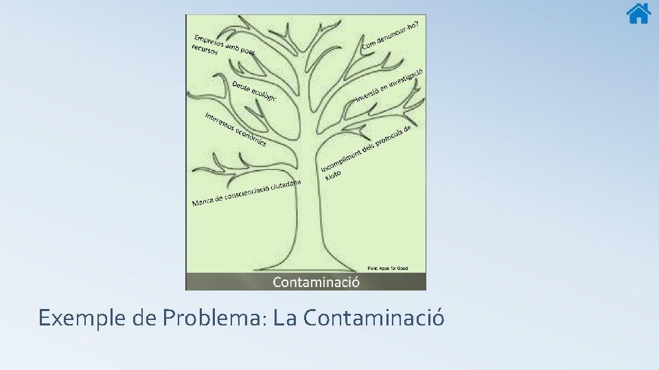 Exemple de Problema: La Contaminació