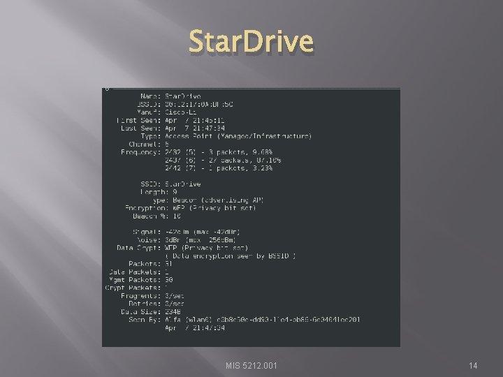 Star. Drive MIS 5212. 001 14