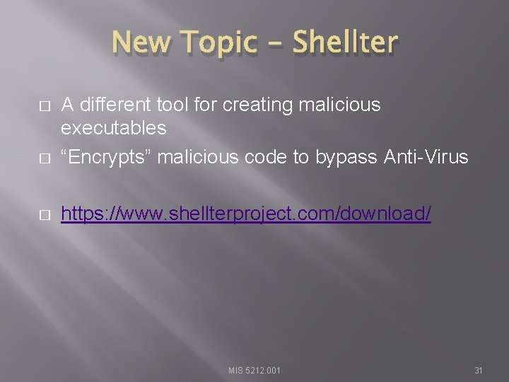 """New Topic - Shellter � A different tool for creating malicious executables """"Encrypts"""" malicious"""