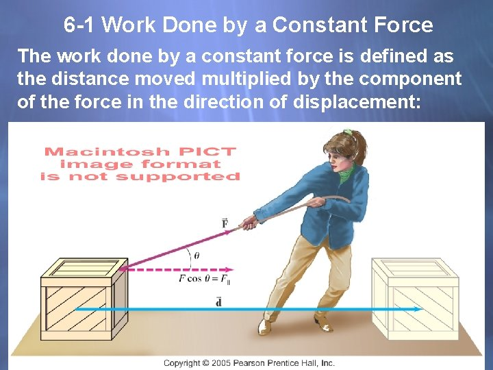 6 -1 Work Done by a Constant Force The work done by a constant