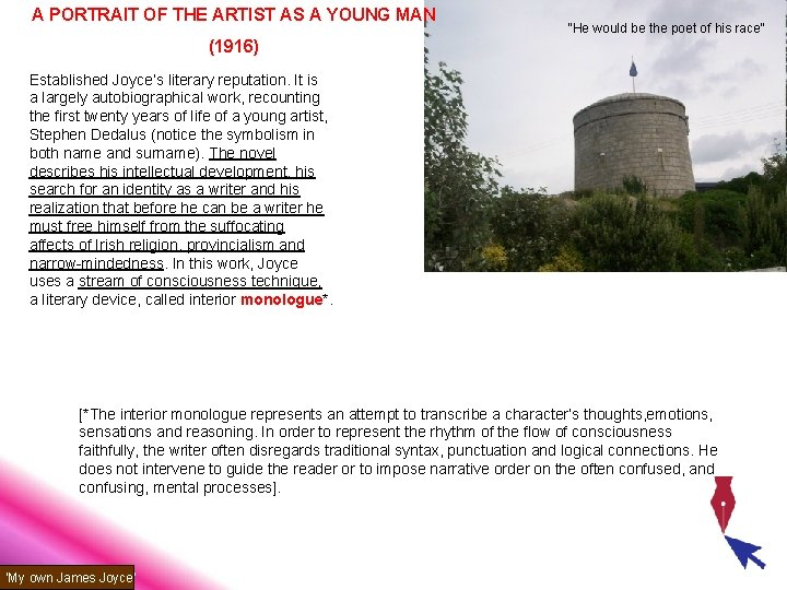 """A PORTRAIT OF THE ARTIST AS A YOUNG MAN """"He would be the poet"""
