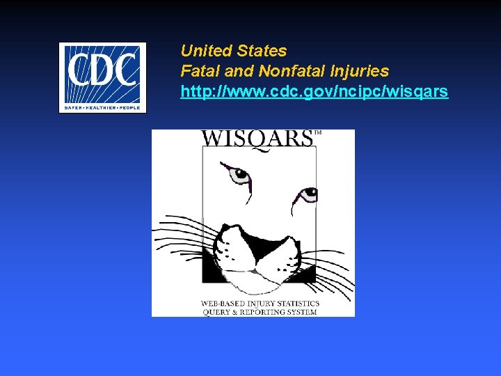 United States Fatal and Nonfatal Injuries http: //www. cdc. gov/ncipc/wisqars