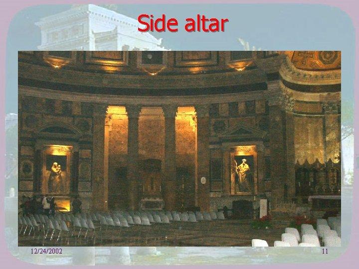 Side altar 12/24/2002 11
