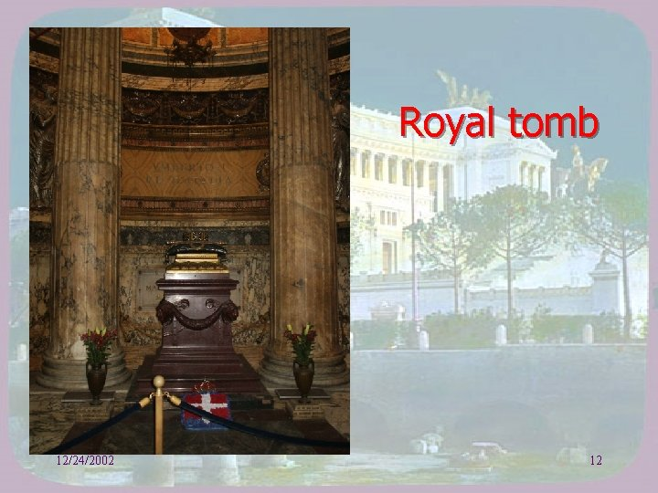 Royal tomb 12/24/2002 12